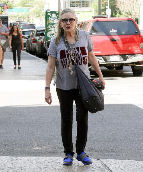 Carrie Fisher en las calles de Nueva York
