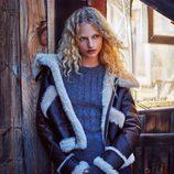 Abrigo de piel de borrego de la nueva colección de otoño/invierno 2016/2017 de Zara