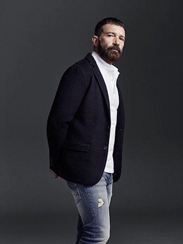 Antonio Banderas con look denim para Selected Homme otoño/invierno 2016/2017