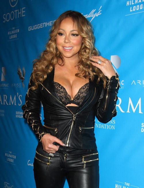 Mariah Carey en una cena de honor