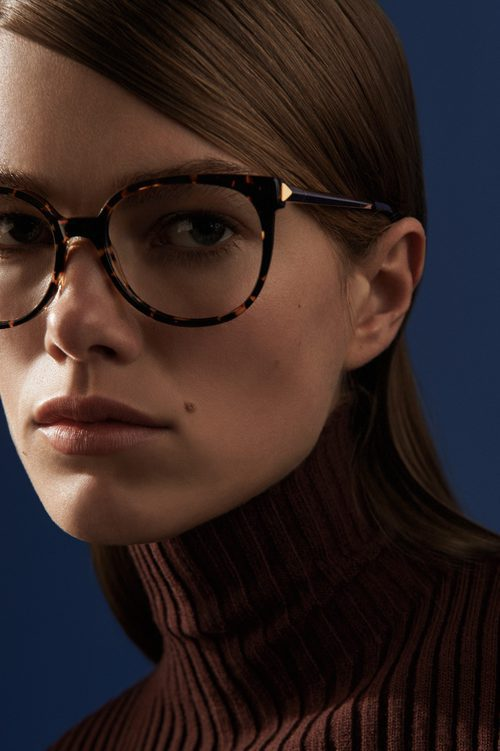 Gafas ovaladas de Victoria Beckham otoño/invierno 2016/2017