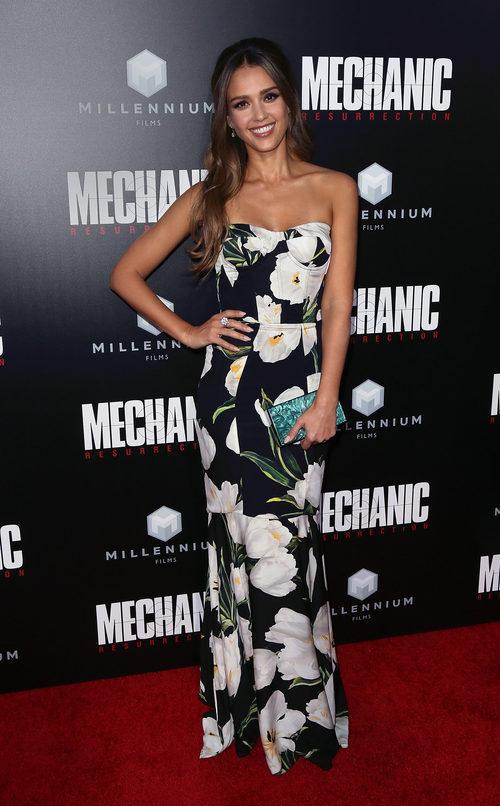 Jessica Alba en el estreno de 'Mechanic Resurrection'