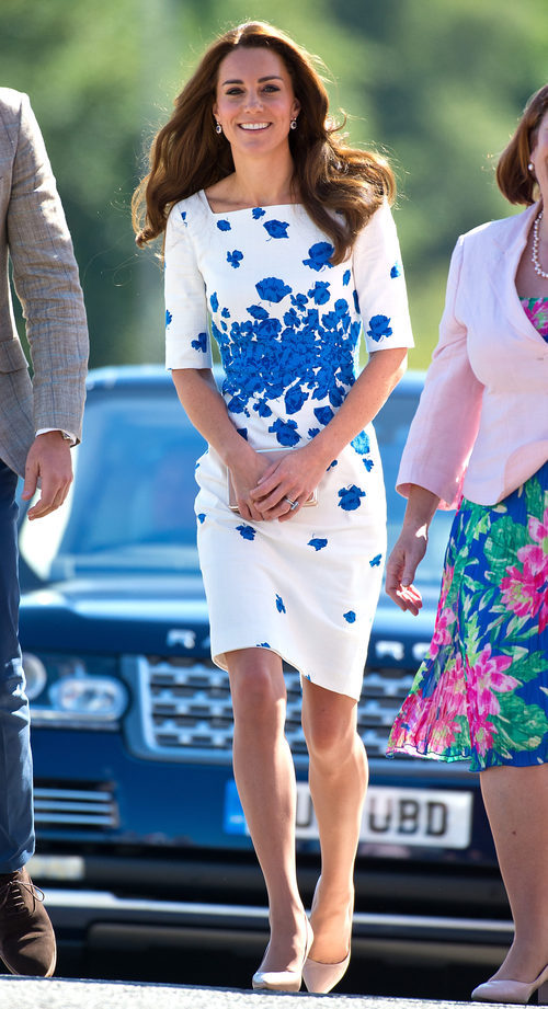 Kate Middleton en las calles de Luton en Inglaterra
