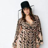 Ashley Graham con un vestido de H&M