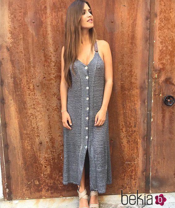 Sara Carbonero con un vestido de su firma Slow Love