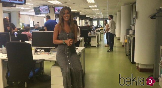 Isabel Jiménez en los Informativos de Telecinco