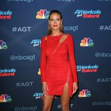 Heidi Klum con un total look rojo en el photocall de 'Got Talent'