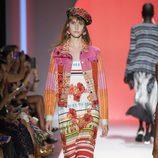 Vestido de colores de Desigual primavera/verano 2017 en la Semana de la Moda de Nueva York