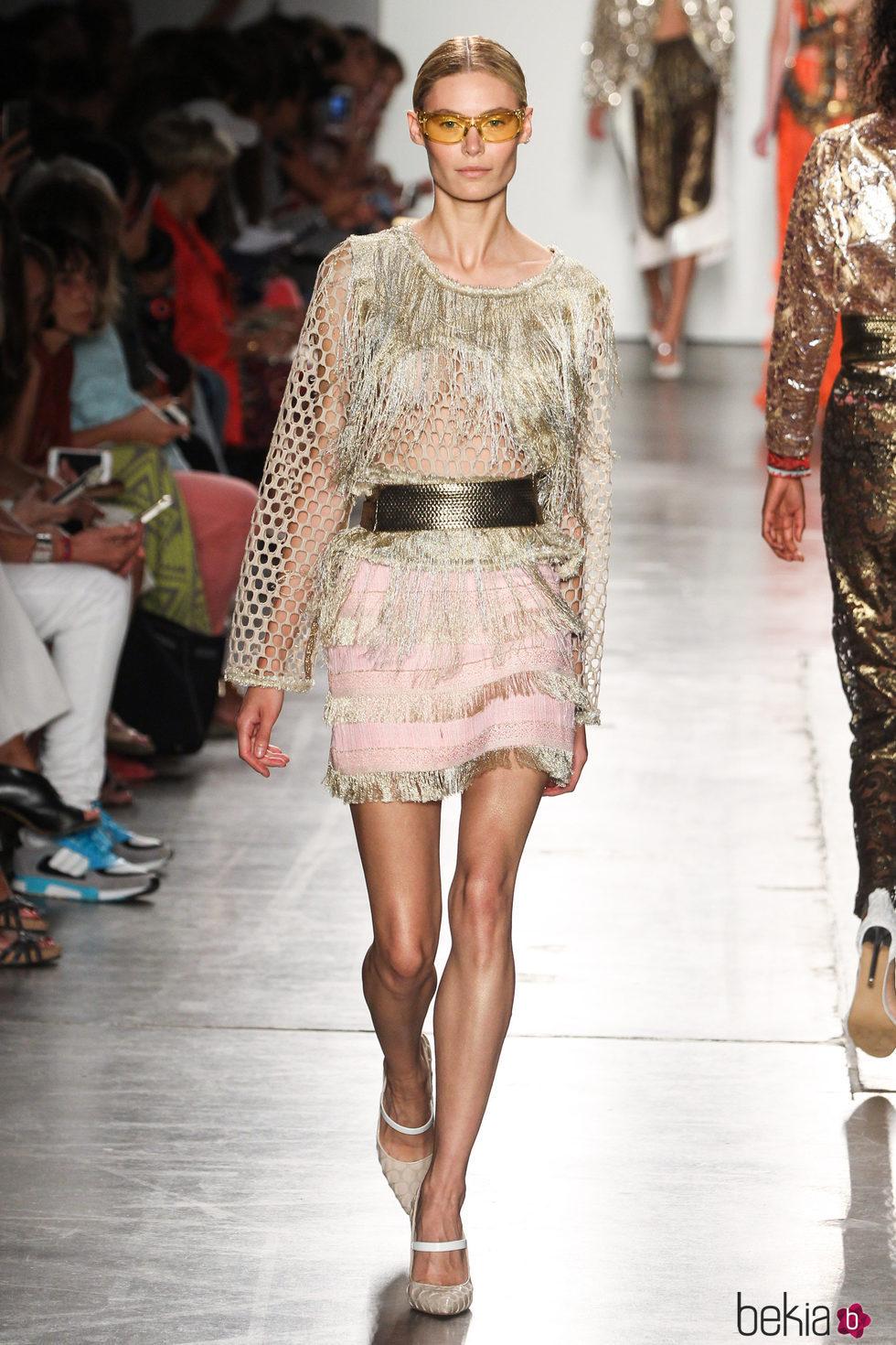 Vestido con flecos de custo barcelona de la colecci n for Trabajos de verano barcelona
