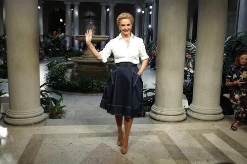 Carolina Herrera en la Semana de la Moda de Nueva York presentando su colección primavera/verano 2017