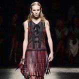 Falda de flecos de Coach primavera/verano 2017 en la Semana de la Moda de Nueva York