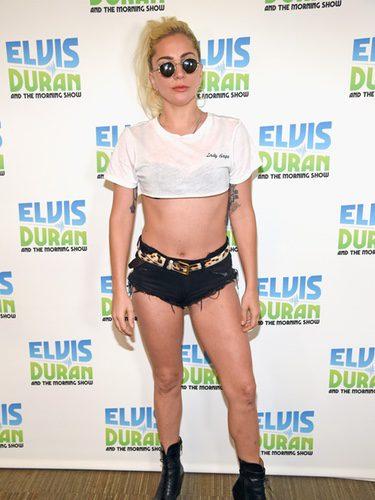 Lady Gaga en el photocall de 'The Elvis Duran'