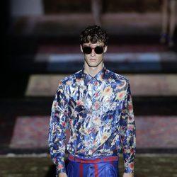 Camisa estampada de Ana Locking colección primavera/verano 2017 en la Madrid Fashion Week
