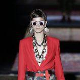 Falda de camuflaje de la colección primavera/verano 2017 de Ana Locking en la Madrid Fashion Week