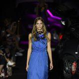 Vestido azul largo de Alvarno colección primavera/verano 2017 para Madrid