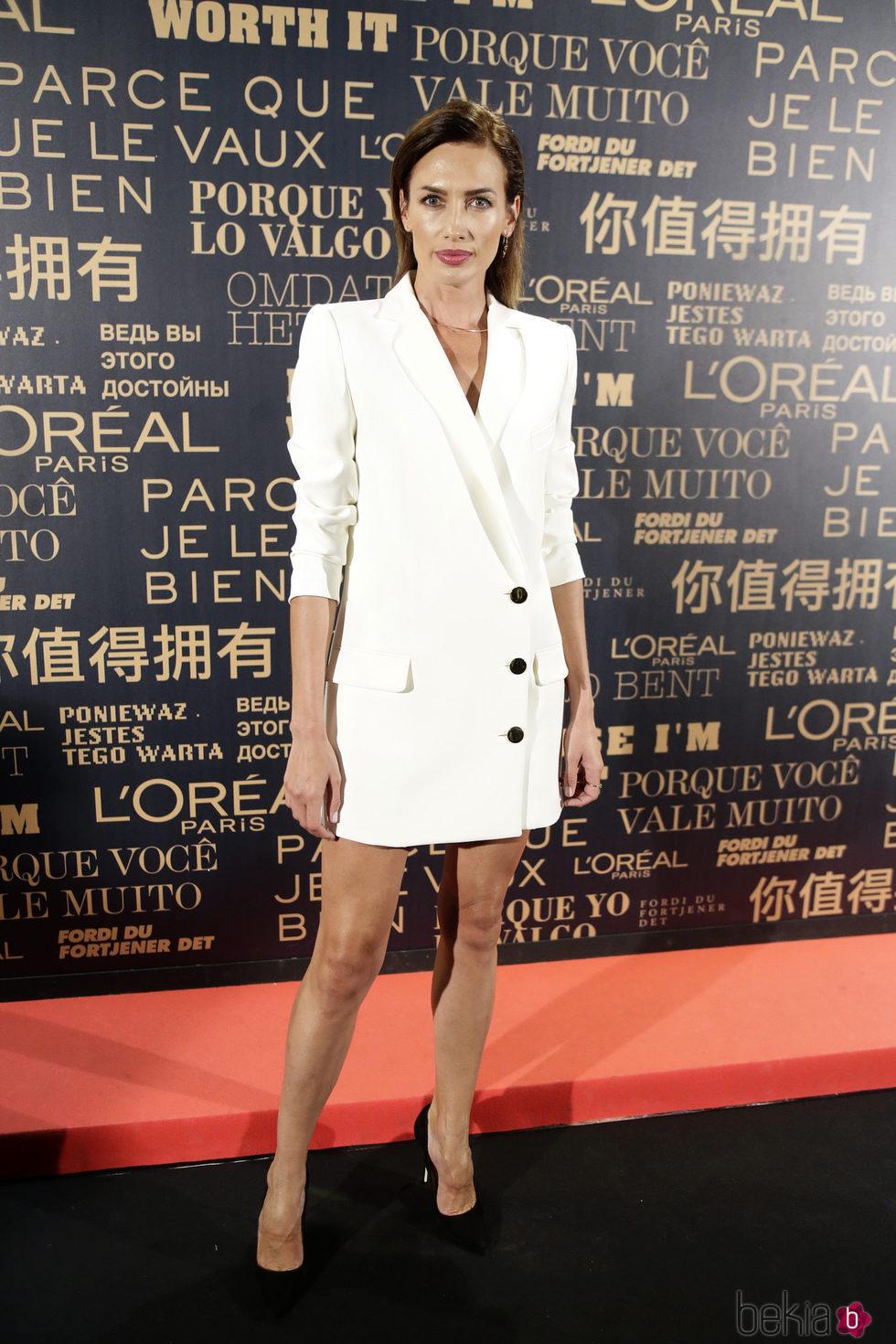 Nieves Álvarez en la fiesta de L'Oreal en la Madrid Fashion Week