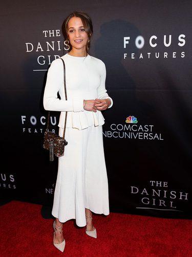 Alicia Vikander en la premiere de 'La chica danesa' en Washington DC