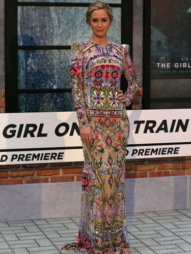 Emily Blunt en la premiere de 'La chica del tren' en Londres