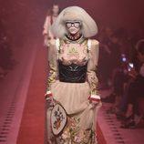 Vestido floral de Gucci primavera/verano 2017 en la Milán Fashion Week