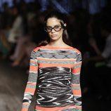 Vestido corto de punto estampado de Missoni colección primavera/verano 2017 en Milán Fashion Week