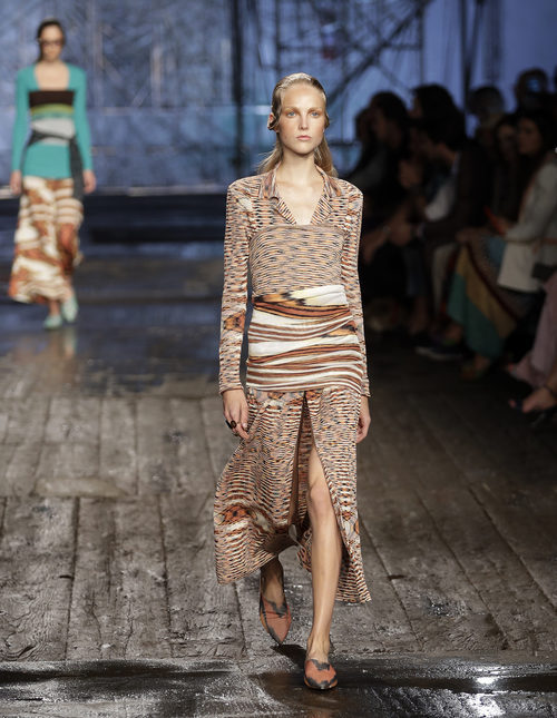 Vestido largo animal print de Missoni colección primavera/verano 2017 en Milán Fashion Week