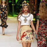 Falda estampada de Dolce & Gabbana primavera/verano 2017 en la Milán Fashion Week