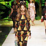 Vestido midi de Dolce & Gabbana primavera/verano 2017 en la Milán Fashion Week