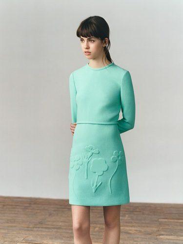 Vestido en color aguamarina de Victoria Beckham colección otoño/invierno 2016/2017