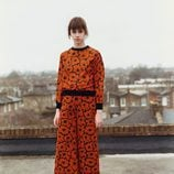 Pantalón culotte naranja de Victoria Bekcham colección otoño/invierno 2016/2017