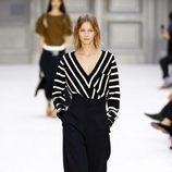 Camisa a rayas de Chloé primavera/verano 2017 en la París Fashion Week