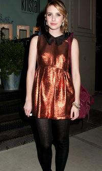Emma Roberts se apunta a la moda 'glitter'