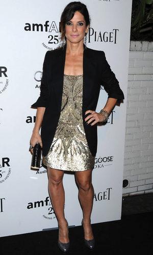 Sandra Bullock, impresionante con un vestido glitter