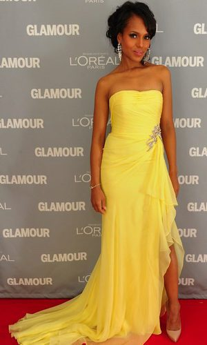 Kerry Washington, una diva de amarillo