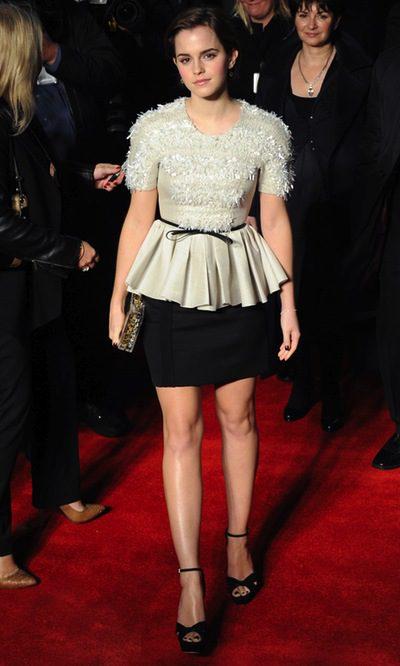 Emma Watson, guapísima de blanco y negro