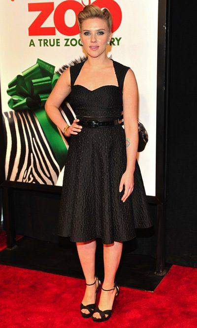 Scarlett Johansson, de total look black
