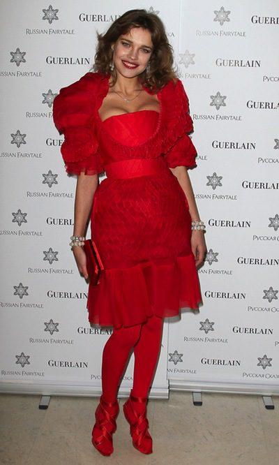 Natalia Vodianova, la mujer de rojo