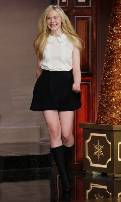 Elle Fanning, 'teenager' bicolor