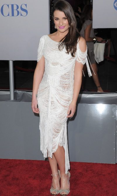 Lea Michele espectacular de Marchesa