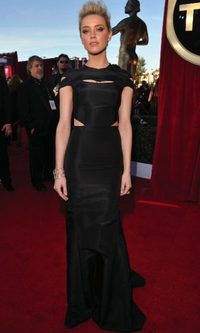 Amber Heard de Zac Posen pre-fall 2012