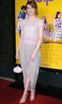 Emma Stone, perfección drapeada