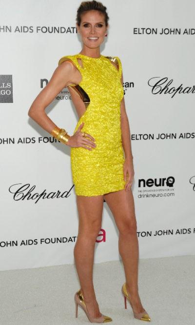 Heidi Klum estrena la colección Alta Costura de Versace