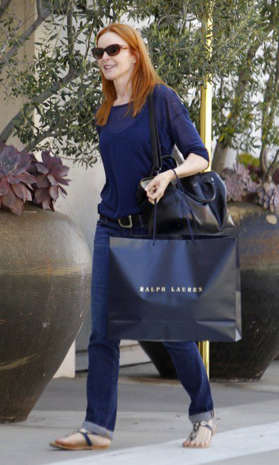Marcia Cross y su look total blue