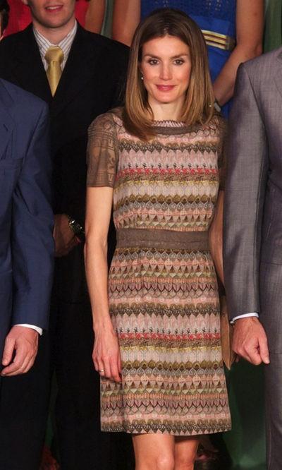 La Princesa Letizia repite vestido de Alianto