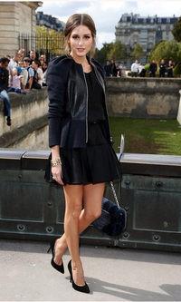 Olivia palermo perfecta en el desfile de Dior