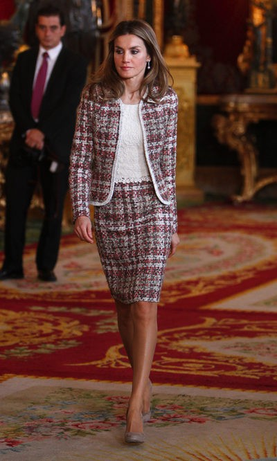 La Princesa Letizia apuesta por el tweed