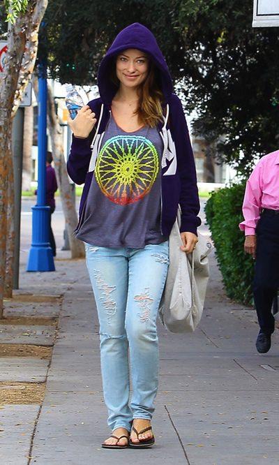 Olivia Wilde, una premamá de lo más hippie
