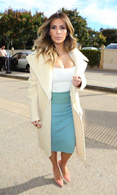 Kim Kardashian apuesta por los tonos pastel