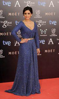 El pesado y brillante vestido de Inma Cuesta