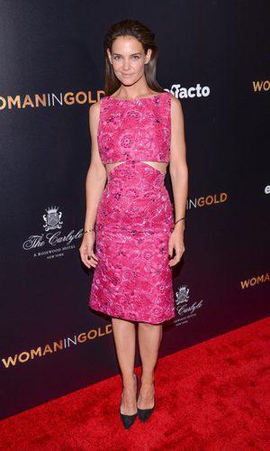 El vestido 'vie en rose' de Katie Holmes