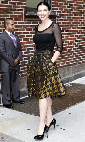 Julianna Margulies, Carolina Herrera para Letterman
